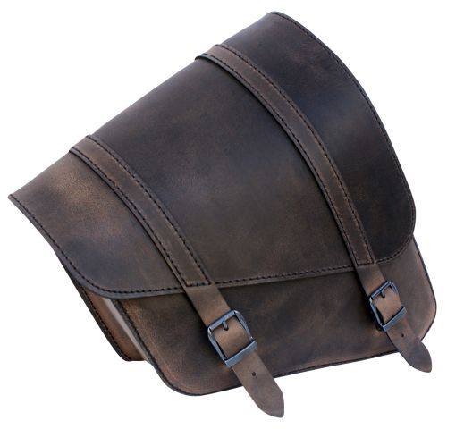 Sacoche Latérale Marron Sportster 11 Litres/Brown Leather Sportster Framebag