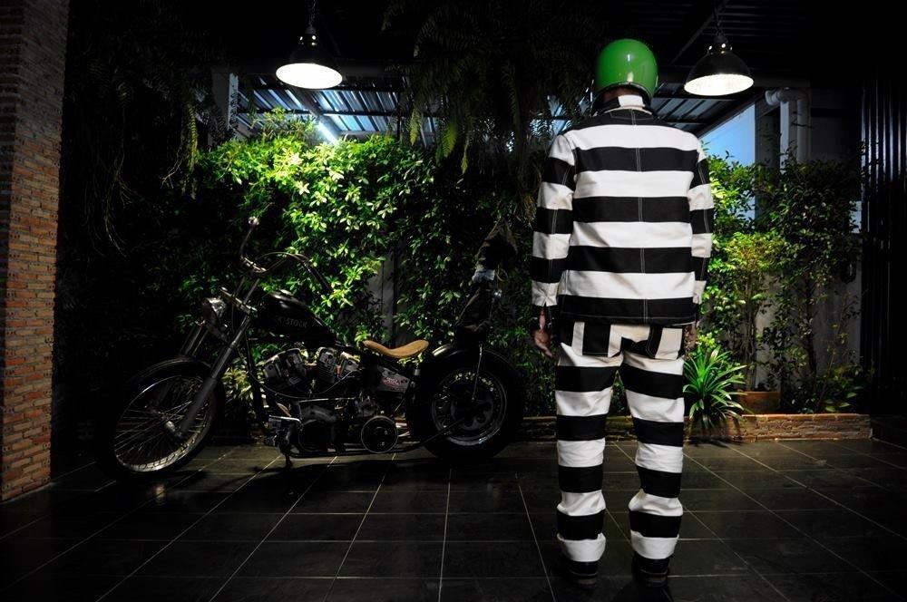 vêtement moto prisonnier-japan style prisonner