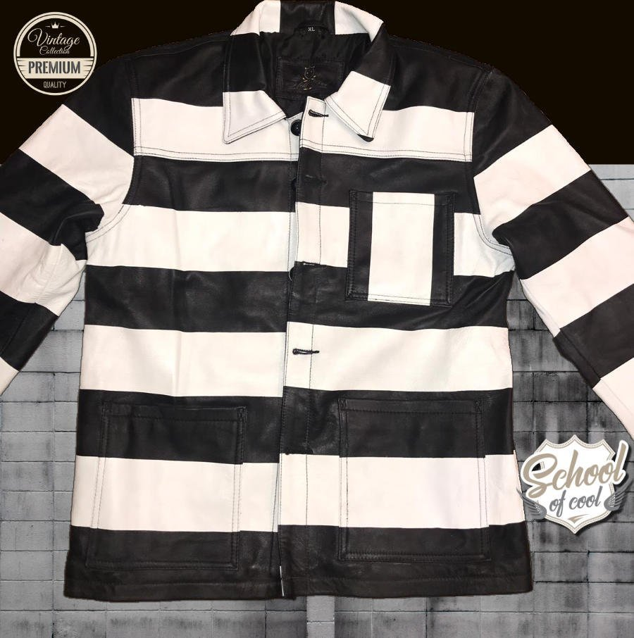 0140360ee973 VESTE CUIR HOLD FAST PRISONNIER - school of cool