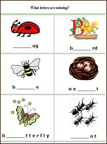 Beginning English Worksheets #3