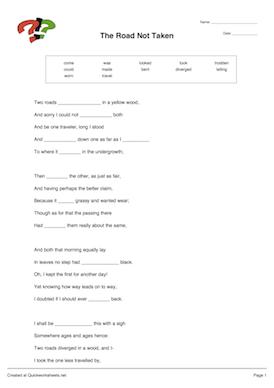 Cloze Test Worksheets #2