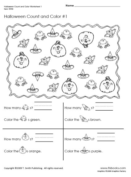 Count And Color Worksheets #3