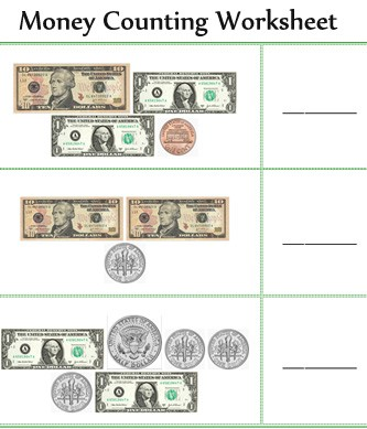 Counting Money Worksheets Printable #4