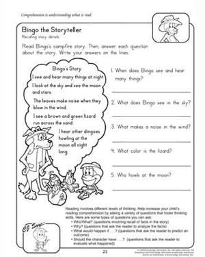 Easter Comprehension Worksheets #1