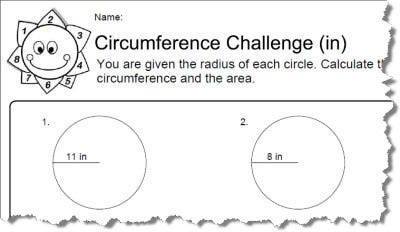 Find The Area Worksheets #4