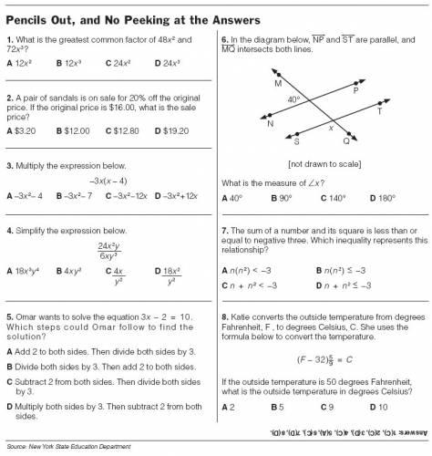 Eighth Grade English Worksheets #3