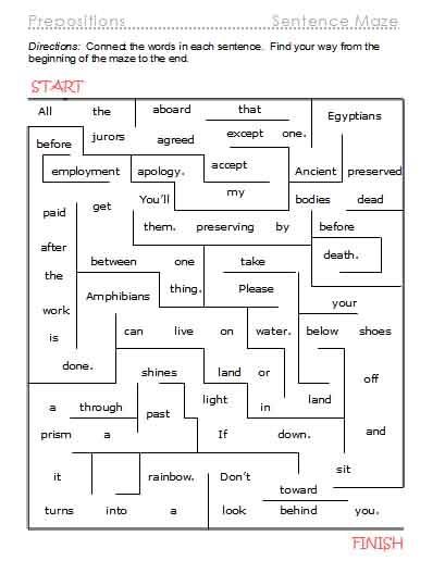 Esl Prepositions Worksheets #3