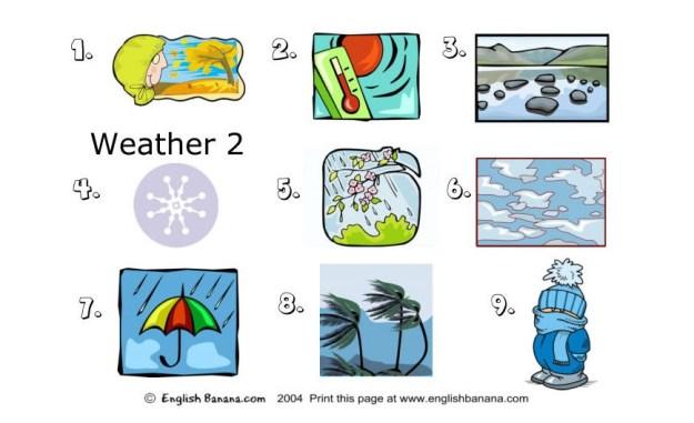 Esl Weather Worksheets #4