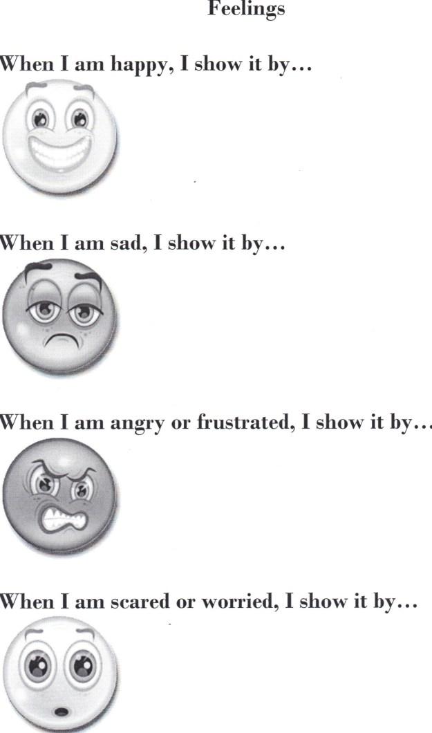 Feelings Worksheets For Kids #2