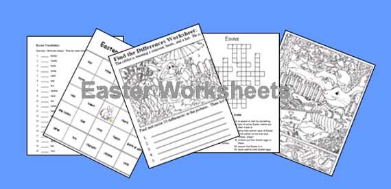 Free Easter Printable Worksheets #1