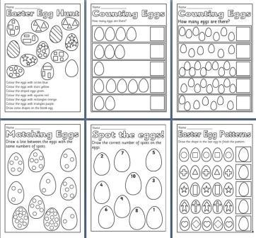 Free Easter Printable Worksheets #2