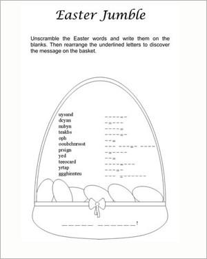 Free Easter Printable Worksheets #4