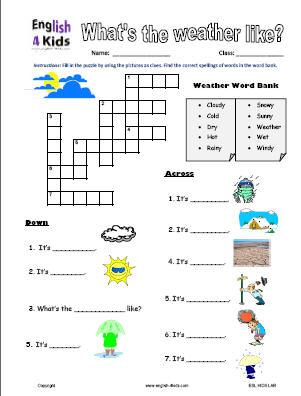 Free Esl Worksheets For Kids #2