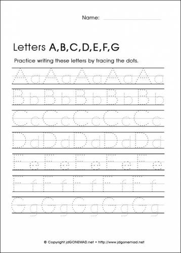 Free Kindergarten Alphabet Worksheets #3