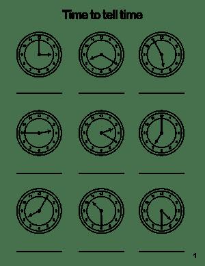 Free Printable Time Worksheets #5