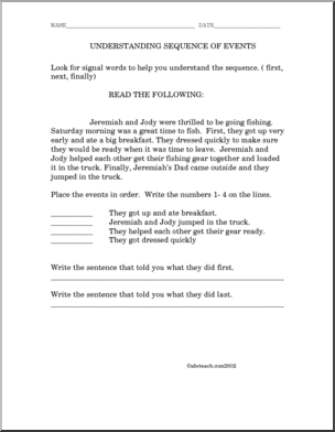 Free Reading Sequencing Worksheets #4