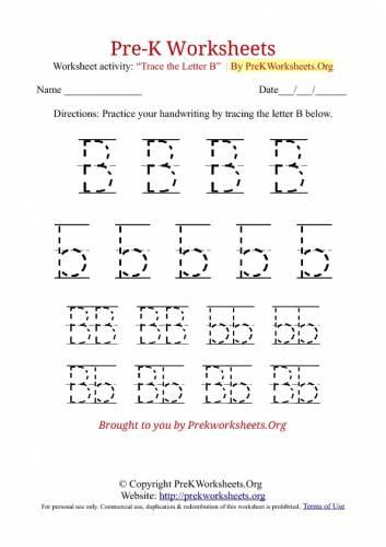 Free Worksheets For Pre K #3