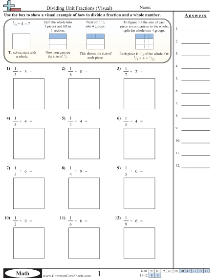 Fractions Of A Whole Number Worksheets #4