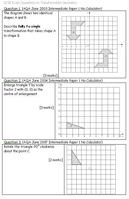 Geometry Translations Worksheets #4