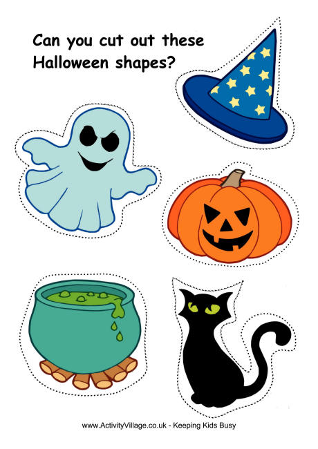 Halloween Cut And Paste Worksheets #5