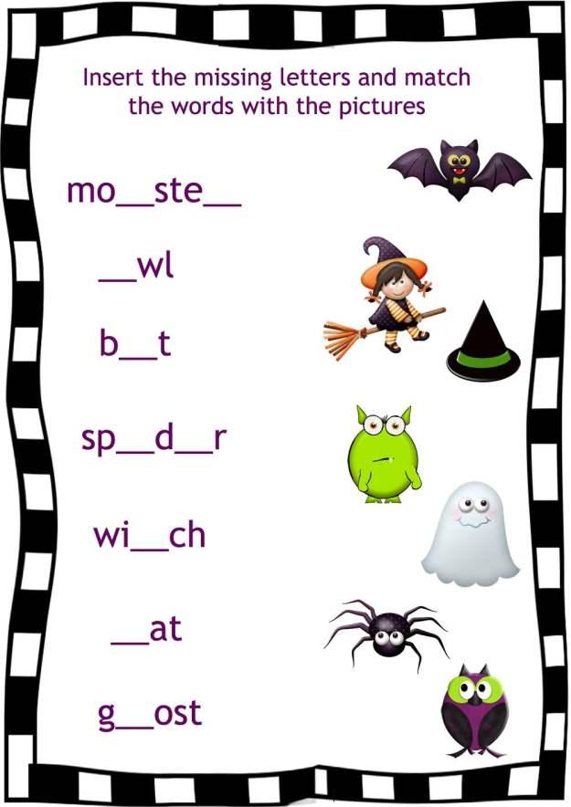Halloween Fun Worksheets #2