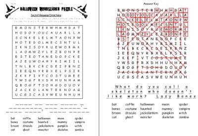 Halloween Puzzle Worksheets #4