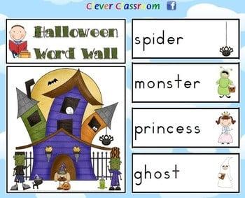 Halloween Vocabulary Worksheets #4