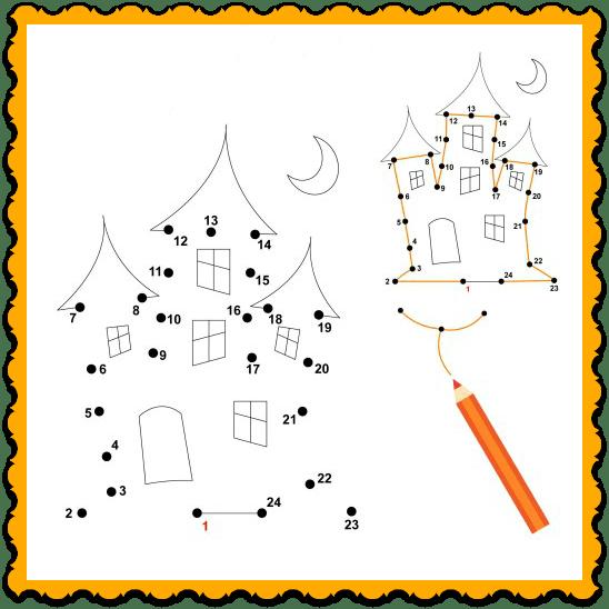 Halloween Worksheets For Kindergarten #1