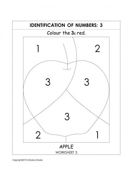 Kindergarten Number Recognition Worksheets #1