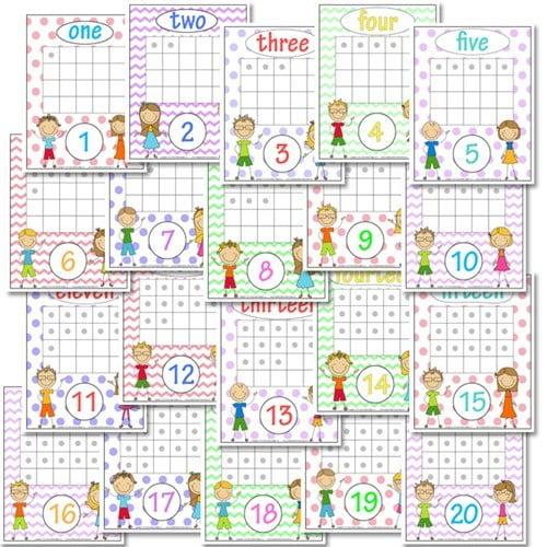 Kindergarten Number Recognition Worksheets #3