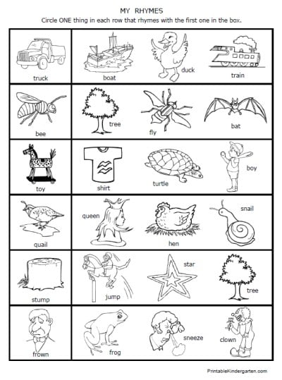 Kindergarten Printable Worksheets Free #2