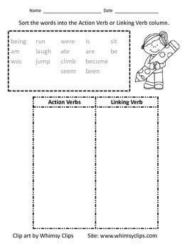 Linking Verb Worksheets #2
