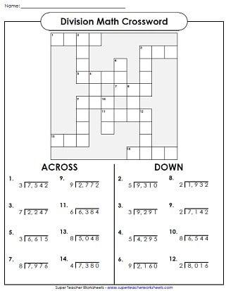 Long Division Fun Worksheets #1