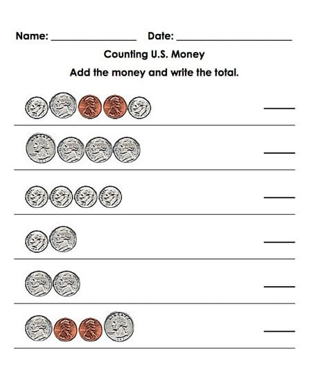 Math With Money Worksheets #2