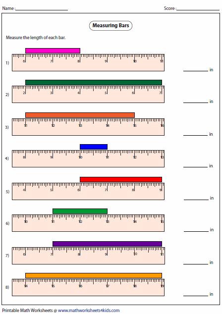 Measurement Length Worksheets #5