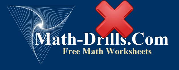 Multiplication Worksheets Math Drills #1