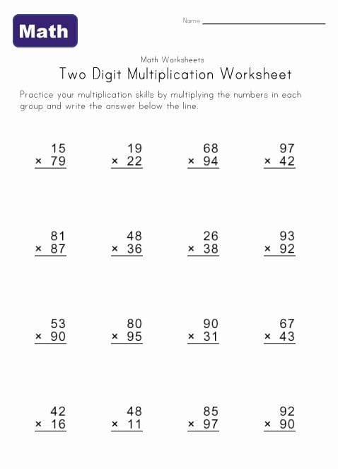 Multiplying By 4 Worksheets #3