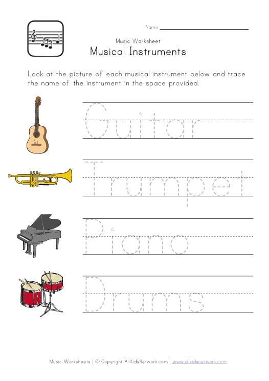 Music Printable Worksheets #2