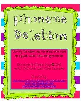 Phoneme Deletion Worksheets #3