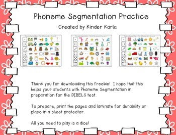 Phoneme Segmentation Worksheets #2