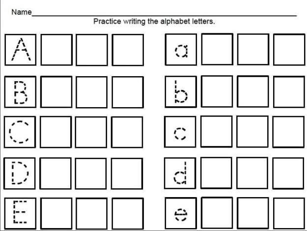 Pre K 4 Worksheets #2