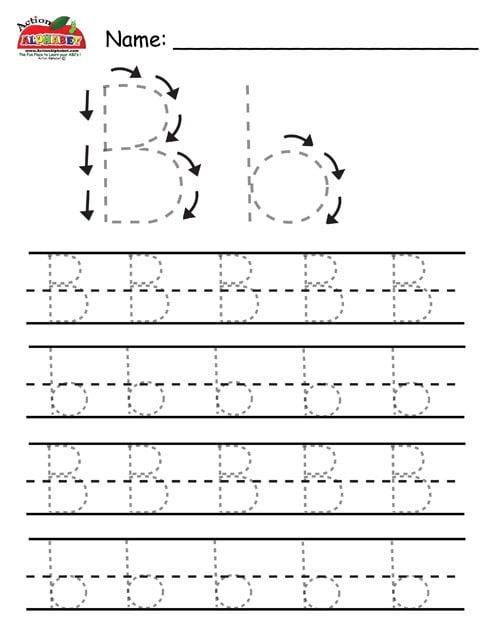 Printable Alphabet Tracing Worksheets #1
