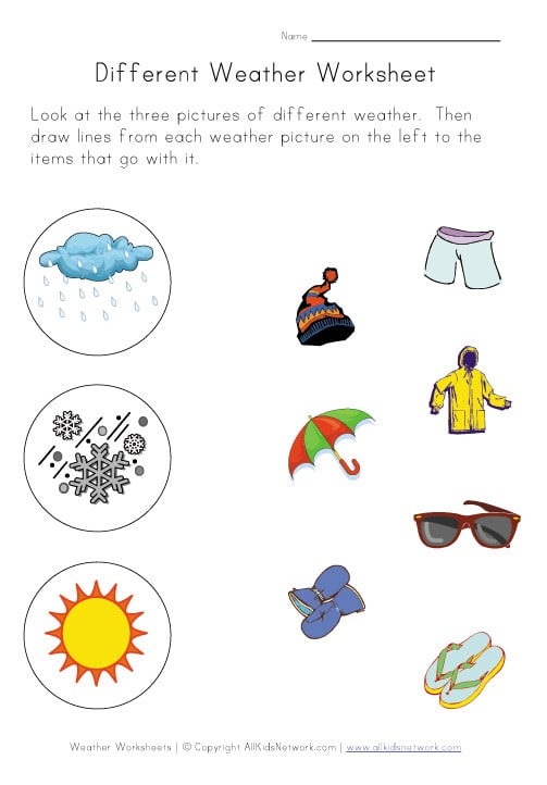 Science Weather Worksheets #2