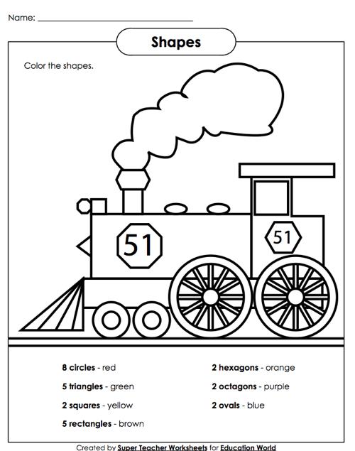 Shapes Math Worksheets #2