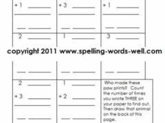 3 free printable 1st grade spelling worksheets