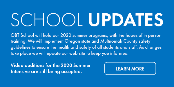 Link OBT School and summer intensives Updates