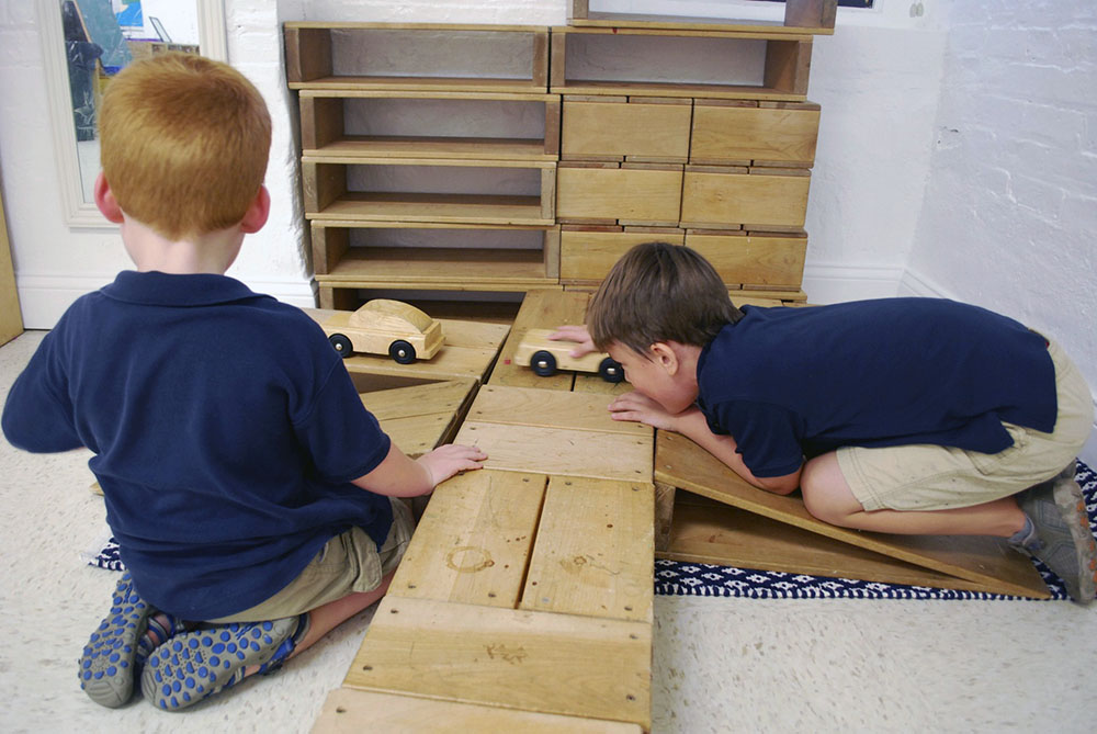 Boys in Early Childhood Playing