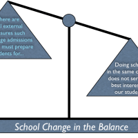 School Change, A Delicate Balance