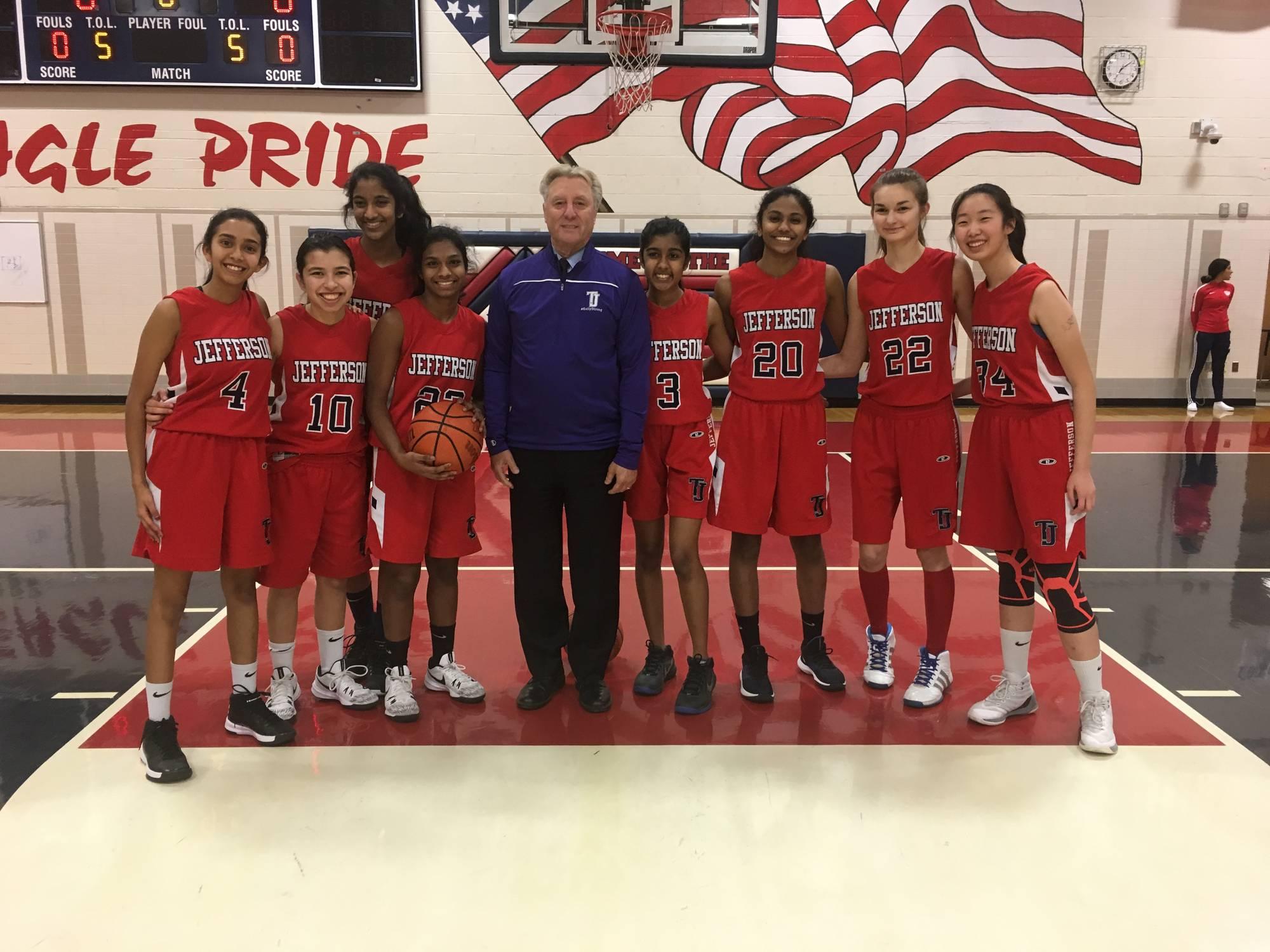 hight resolution of girls jv basketball