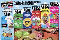 Thon Donation Based ColorAThon Event  Earn Up to 70